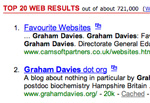 Graham Davies 2nd Yahoo hit!